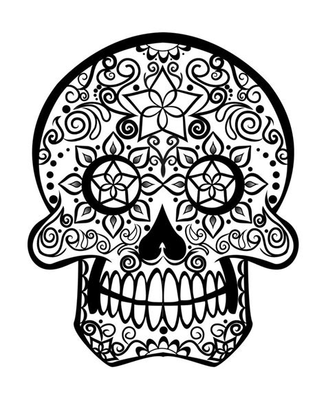 sugar skull coloring page pdf sugar skull mask sugar skull tribal pinterest