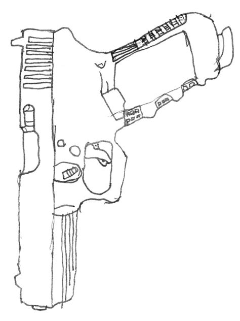 9mm Drawing by Glock 17 9mm By Sirlollipop On Deviantart