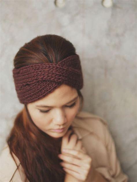 knit headband whimsical winter headband ear warmer skull cap ski