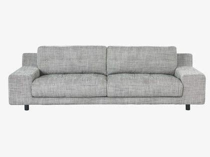 low wide arm sofa the sumptuous hendricks black and white viscose mix fabric