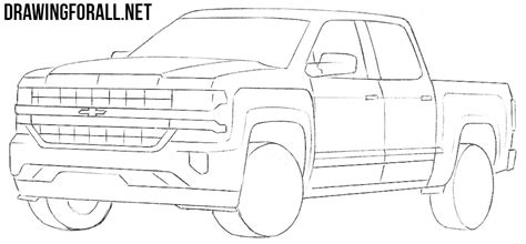 Chevy Truck Drawings by How To Draw A Chevy Silverado Drawingforall Net