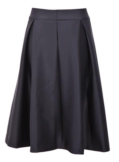 black zipper ruffle a line skirt sheinside