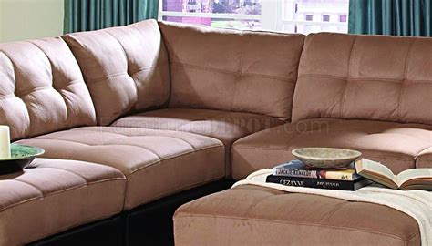 modular sectional sofa microfiber claude modular sectional sofa 7pc brown microfiber by coaster