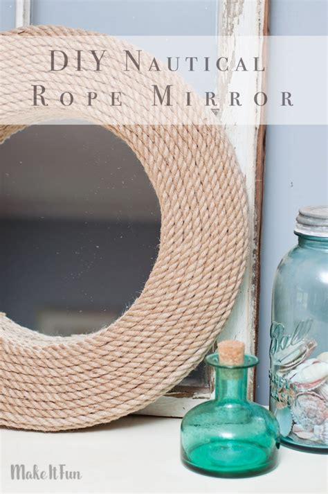 diy mirror crafts diy mirror project nautical style