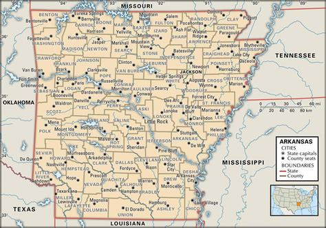map of arkansas and state and county maps of arkansas