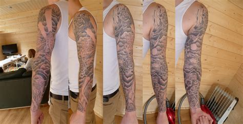 good first tattoos for guys amazing clouds sleeve photo design idea for and