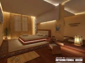 Japanese style bedroom interior designs suspended ceiling with