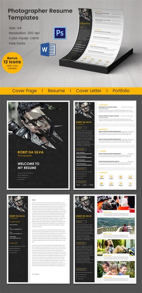 Best Resume Format For Photographer by Creative Resume Template 79 Free Sles Exles