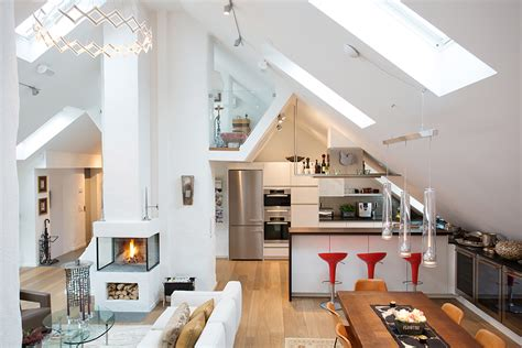 high ceiling apartment modern loft apartment with bright open plan and