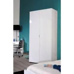 armoire 2 portes laqu 233 blanc achat vente armoire