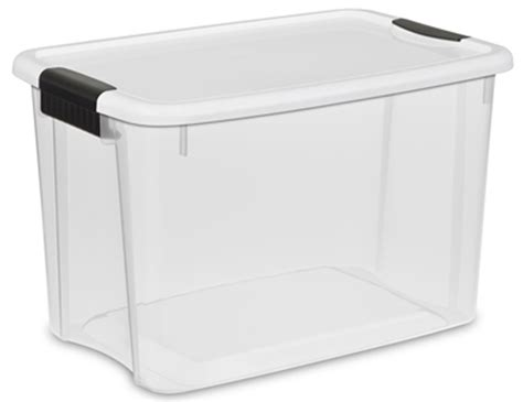 Box Makanan Container Makanan Ultra Pack sterilite 30 quart ultra latch storage box w white lid and