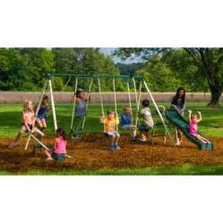 flyer backyard swing set flyer backyard swingin metal swing set