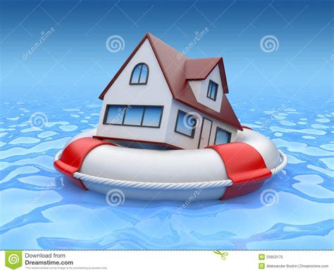 house property insurance house in lifebuoy property insurance royalty free stock photo image 23953175
