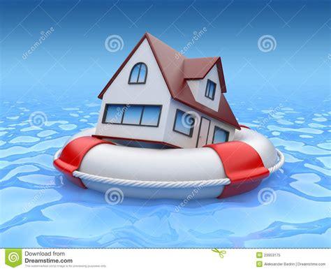 house property insurance house in lifebuoy property insurance royalty free stock photo image 23953175