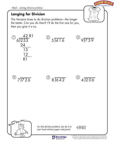 printable worksheets on long division worksheets on long division basic long division