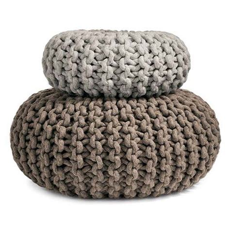 knitted ottomans flocks pouf hand knitted seat table ottoman or purely