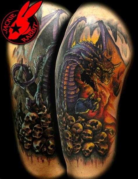 dragon with fire tattoo designs tattoos and designs page 41