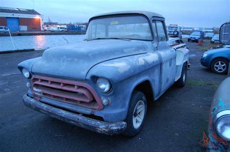 1957 chevy stepside pick up 1957 chevrolet 3100 stepside pickup project