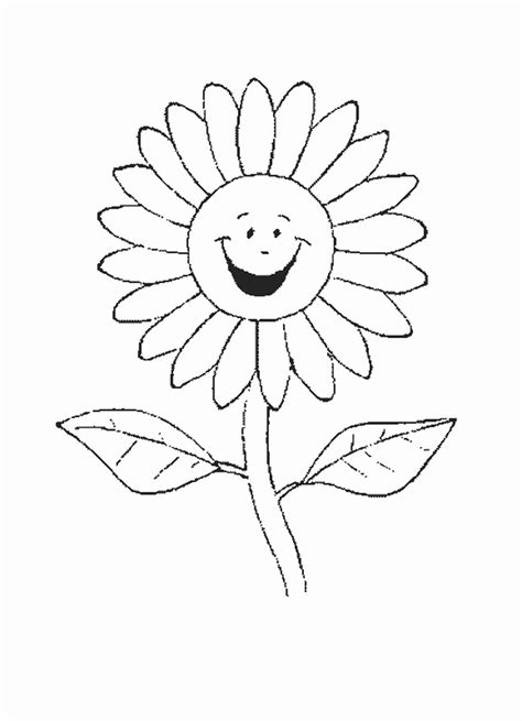 Sunflower Coloring Sheet Printable Free For All Kids Sunflower Coloring Pages