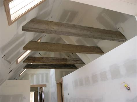 vaulted ceiling beams photo 8829 weathered beams timbers guest loft in