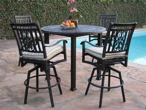 Patio Table And Chair Sets Furniture Images About Diy Patio Furniture On Patio Bar Table And Chair Covers Bar Height Patio