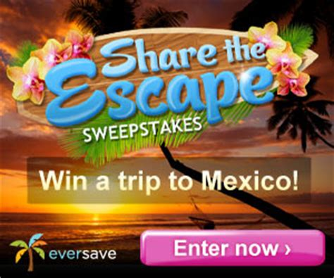 Eversave Sweepstakes - 50 off sharper image enter to win a mexico trip on eversave 3 5 a savings wow