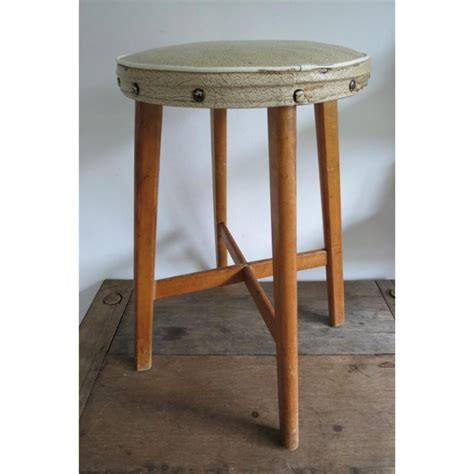 vintage wooden rustic kitchen table stool chair retro