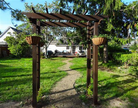 Garden Arbor Houzz Houzz Frame Your Garden With A Diy Arbor Rev Homegoods