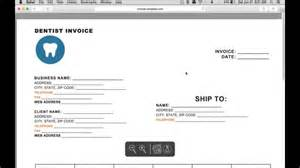 Dental Bill Template how to make a dental invoice excel word pdf