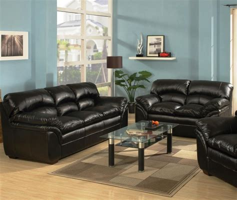 black sofa and loveseat black leather sofa and loveseat set whitney modern black