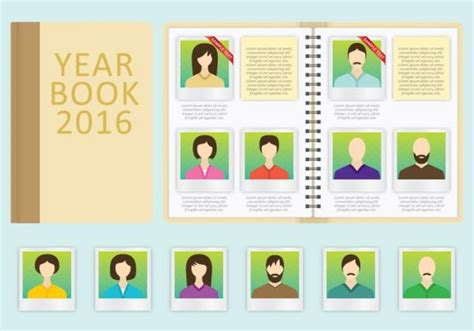 8 Fully Customizable High School Yearbook Templates For Free Download School Photo Templates Free
