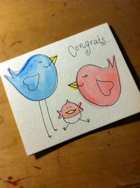 Handmade Baby Announcement Cards - handmade congrats on your new baby or boy baby