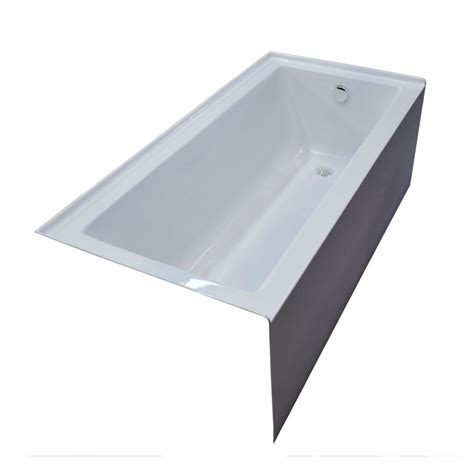 rectangle bathtub universal tubs amber 5 ft acrylic right drain rectangular