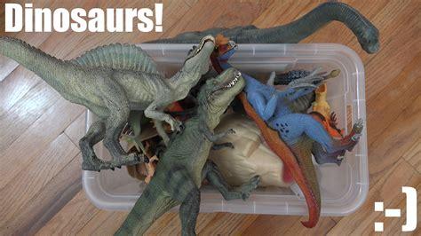 dinosaur box bunch of dinosaur collection a dinosaur box unboxing