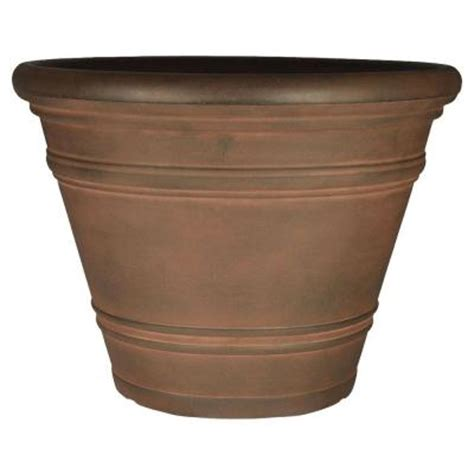 Planters At Home Depot by Planters 32 In Rust Resin Pienza Planter Vp32bkro The Home Depot