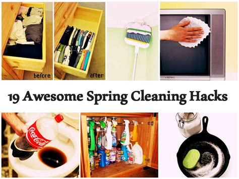 spring cleaning hacks 19 awesome spring cleaning hacks