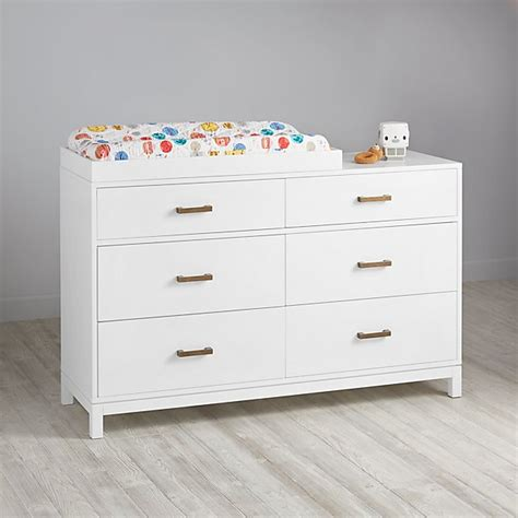 changing table white cargo 6 drawer white changing table the land of nod