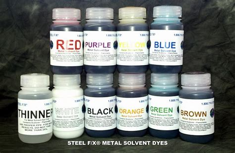 shop osi 10 oz various colors paintable solvent metal dye set 11 colors 8 oz steel f x 174 patinas