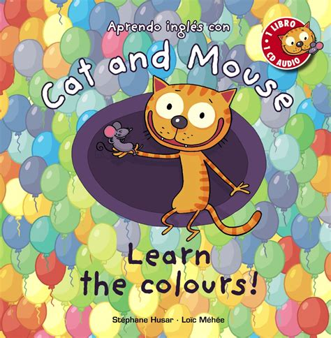 libro cat and mouse cat and mouse learn the colours anaya infantil y juvenil