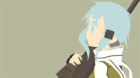 wallpaper anime deviantart sinon minimalist by henyeh on deviantart