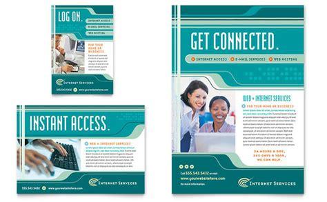 real estate marketing flyer internet service provider flyer amp ad template design
