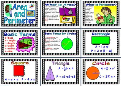 printable shapes display printable area and perimeter posters for classroom display