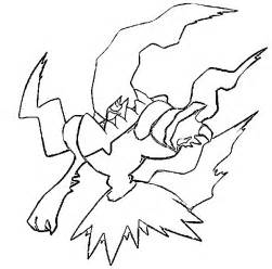 Coloriages Pokemon  Darkrai Dessins sketch template
