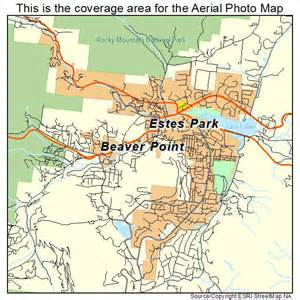 aerial photography map of estes park co colorado