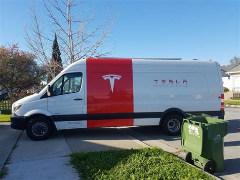 Tesla Mobile Tesla Launches Mobile Tire Service Program In San