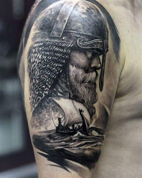 Helm Design Vorlagen 1001 coole und realistische viking tattoos zum inspirieren