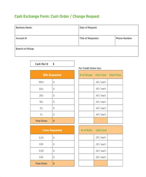 bank change order form template change order forms 9 free word pdf format