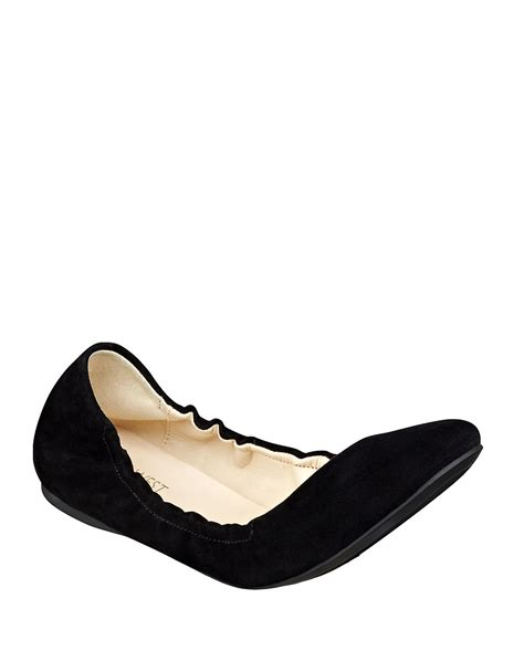 Flat Blok Suede nine west mistray suede flats in black lyst