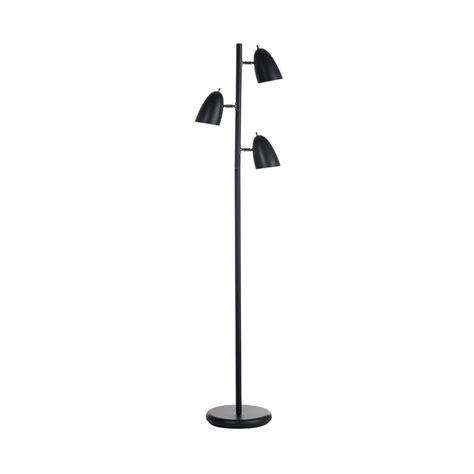 multi head floor l shop dainolite lighting 64 in black multi head floor l