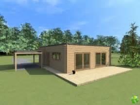 chalet en bois toit plat petit chalet bois moderne mitula immobilier